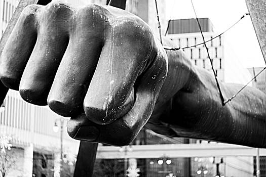 Joe Louis Fist - Detroit by Alanna Pfeffer