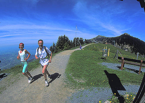 Jogging on Rigi by Carl Purcell