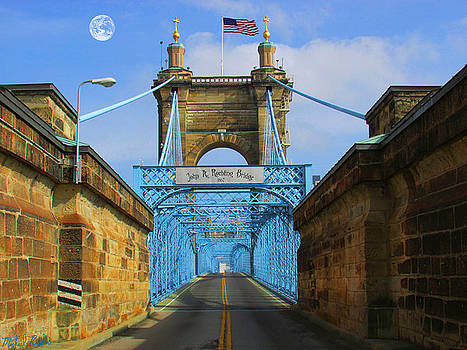 John A. Roebling Suspension Bridge by Michael Rucker