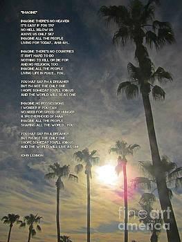 John Lennon Imagine lyrics poster by John Malone