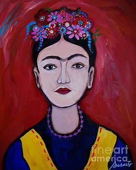 PRISTINE CARTERA TURKUS - Joven Frida Kahlo