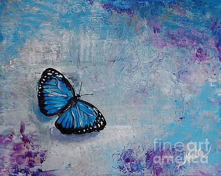 Joyful visitor butterfly by Noelle Rollins