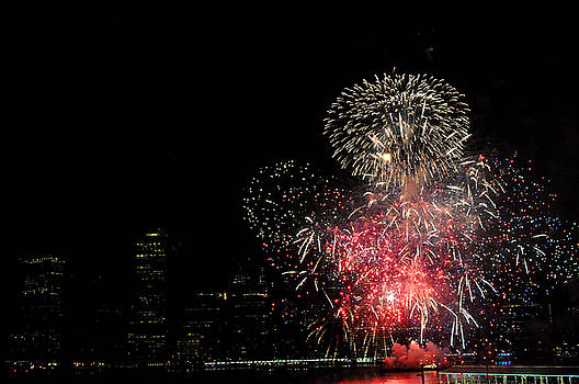 July 4 Fireworks New York City by Diane Lent