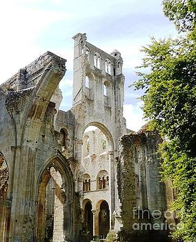 Jumieges Abbey Normandy France by Ann Johndro-Collins