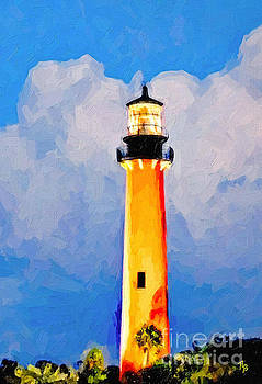 Jupiter Lighthouse  by Tammy Lee Bradley