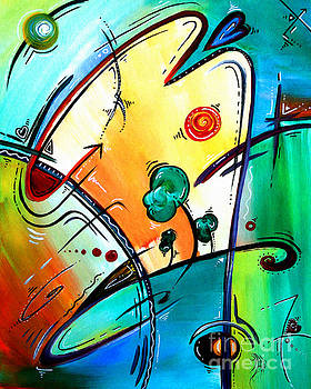 Just Having Fun Original PoP Art Abstract Painting by MADART by Megan Duncanson