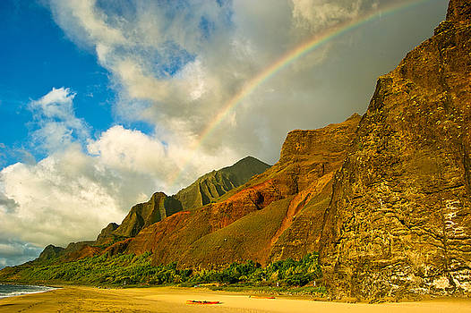 Kalalau Rainbow by Amber Crago