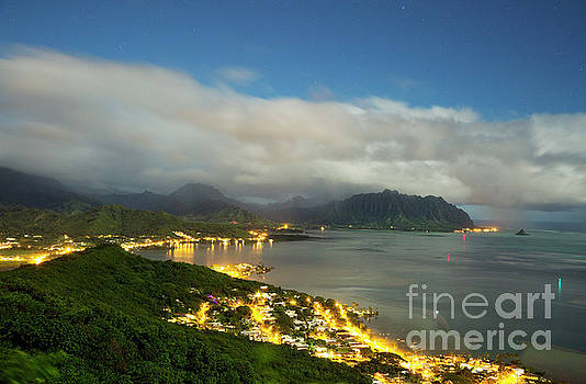Kaneohe at Night by Charmian Vistaunet