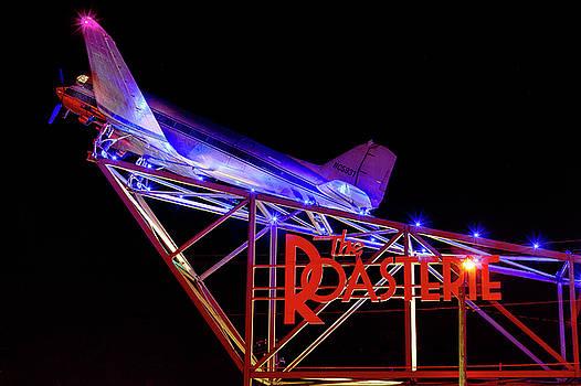 Kansas City Night Plane by Steven Bateson