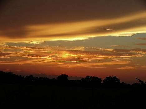 Kansas Summer Sunset by Rebecca Overton