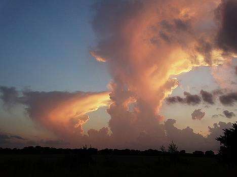 Kansas Sunset Storm Clouds by Rebecca Overton