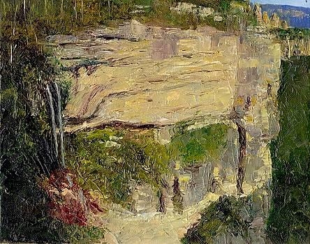 Katoomba Falls and Escarpment Blue Mountains by Dai Wynn