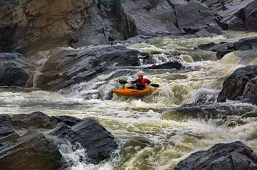 Kayaker, Great Falls, Potomac River by Wayne Higgs