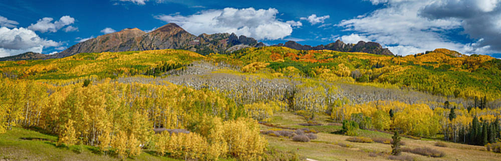 James BO  Insogna - Kebler Pass Autumn Season Panorama
