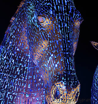 Kelpies Scotland by Terry Cosgrave
