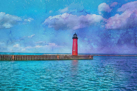 Kenosha North Pier Lighthouse by Kai Saarto