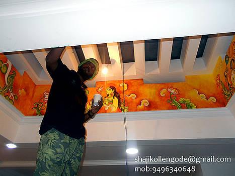 Kerala Mural Painting On Wall by Shaji Kollengode