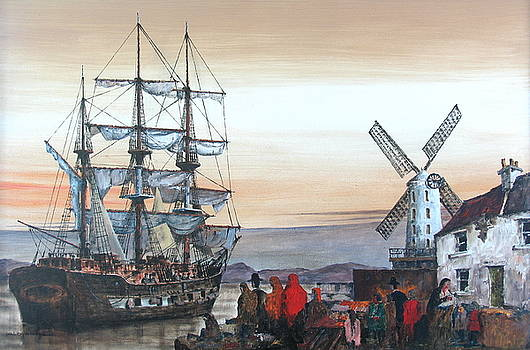 IRELAND CANADA LINKS.. KERRY.  the JEANIE JOHNSTON famine ship in Blennerhasset.  by Val Byrne