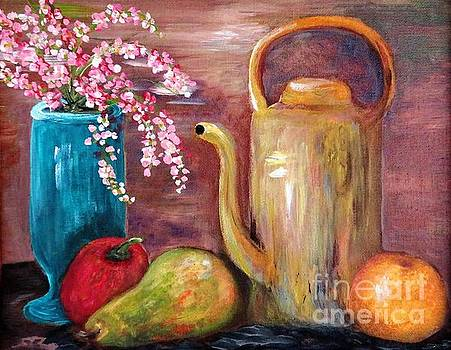 Kettle and Fruit by Eloise Schneider