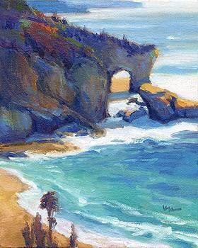 Keyhole Rock 2 Laguna Beach by Konnie Kim