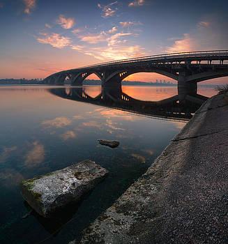 Kiev Metro Bridge in the morning by Sergey Ryzhkov