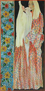 Kimono Feathers by Leslie Marcus