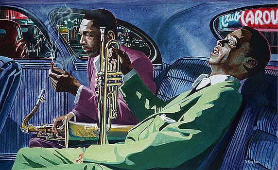 Kind Of Blue   - Miles Davis and John Coltrane by Jo King