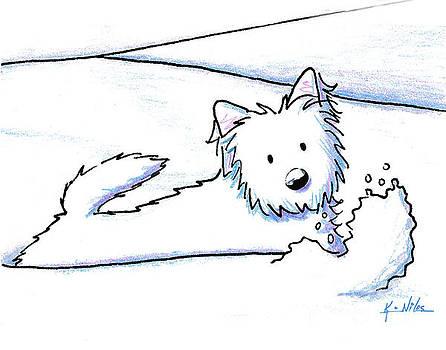 KiniArt Westie Snow Plow by Kim Niles