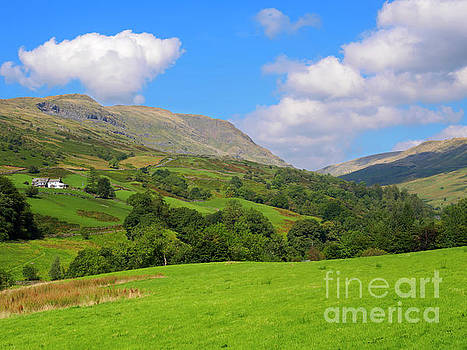 Kirkstone Pass and Red Screes from Ambleside in the Lake District by Louise Heusinkveld