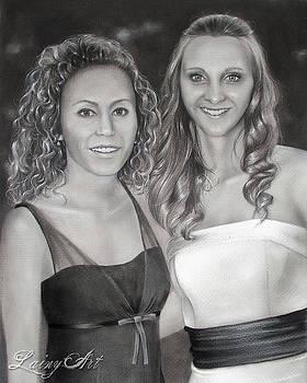 Kisha and her niece  by Alaina Ferguson