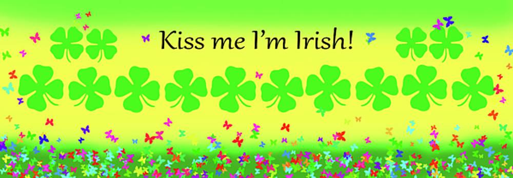 Kiss Me Im Irish Mug  by Debbie Chamberlin