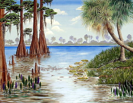 Kissimee River Shore by Monica Turner