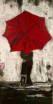 Kissing in the Rain by Jan Holman