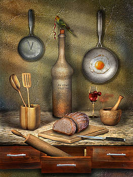 Kitchen after the midnight by Zia Art
