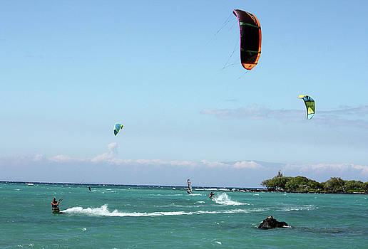 Kite Surfers and Maui by Karen Nicholson