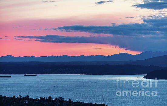 Kitsap Puget Sound Sunset by Mike Reid