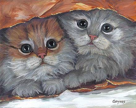Kittens in paper-sack by Peggy Conyers