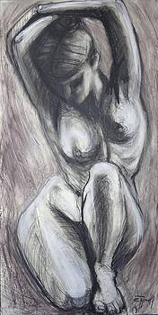 Kneeling 3 -  Female Nude-cropped by Carmen Tyrrell