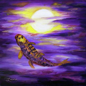 Laura Iverson - Koi in Purple Twilight