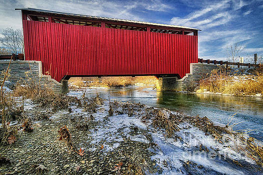 Kramer Covered Bridge, 2016.12.20 by Aaron Campbell
