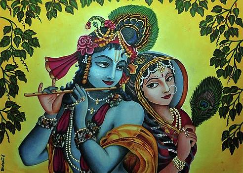 Krishna and Radha by Bharati Subramanian