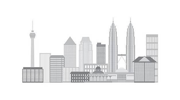 Kuala Lumpur City Skyline Illustration by Jit Lim