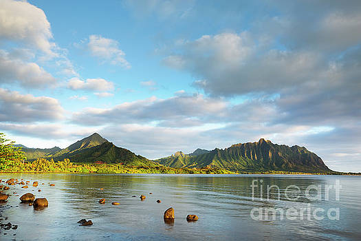 Kualoa Ridge and Kaneohe Bay by Charmian Vistaunet