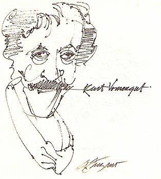 Kurt Vonnegut by Donna Frizano Leonetti