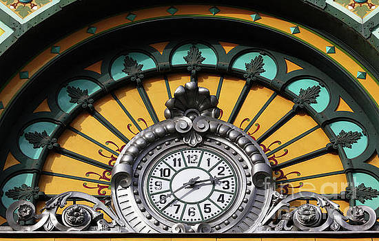 La Concordia Railway Station Clock Detail Bilbao by James Brunker