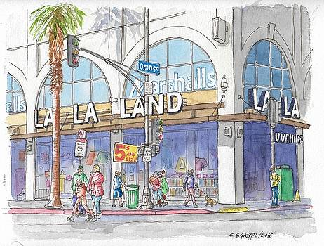 La La Land and Marshalls Stores in Hollywood Blvd., Hollywood, California by Carlos G Groppa