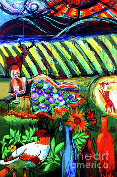 Lady And The Grapes by Genevieve Esson