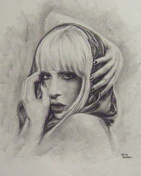 Lady Gaga Poker Face by Cynthia Campbell