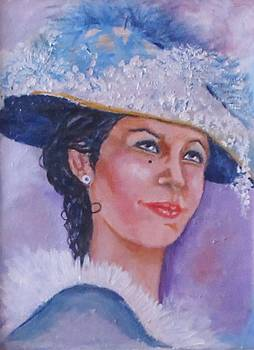 Lady in Blue by Anne Buffington
