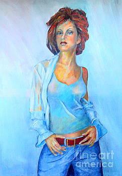 Lady in Blue II by Dagmar Helbig